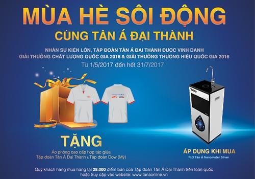 Nhận ngay quà tặng hấp dẫn từ máy lọc nước RO Tân Á Nanometer Silver