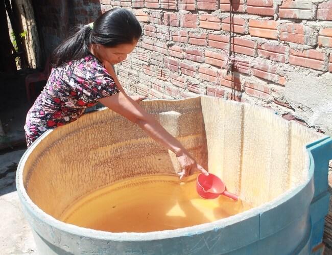 Nước sinh hoạt bị nhiễm mặn
