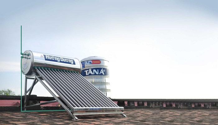 Máy nước nóng NLMT Tân Á Đại Thành có kết cấu vững vàng