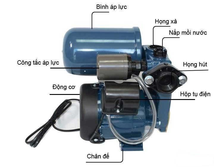 máy bơm tăng áp cho máy nước nóng năng lượng mặt trời