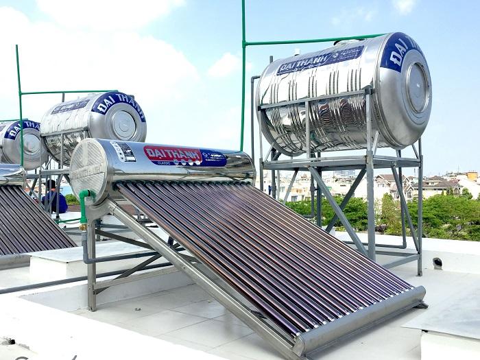 Vị trí lắp đặt máy nước nóng năng lượng mặt trời